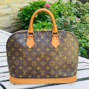 Authentic Louis Vuitton Alma PM Handbag Purse